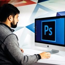 Man using Photoshop